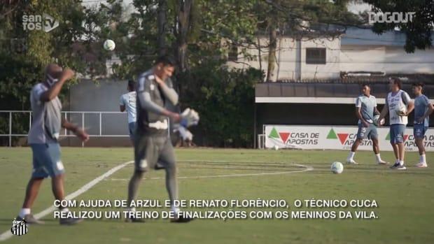 Santos practise finishing in training