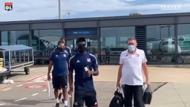 Olympique Lyonnais' departure to Lisbon