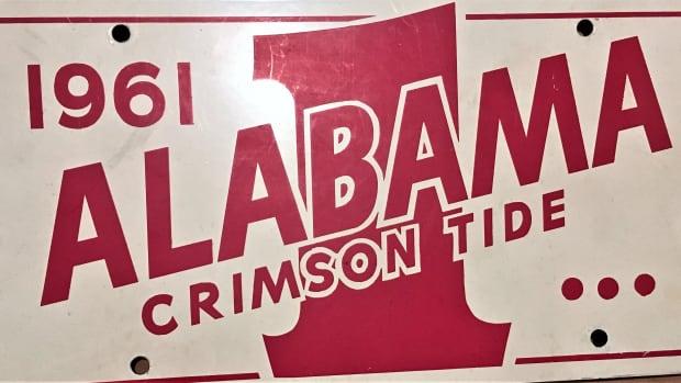 1961 Alabama No. 1 sign