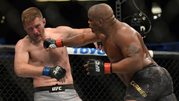 Daniel Cormier and Stipe Miocic in the ring at UFC 241