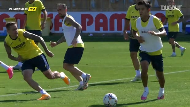 Kubo's quality at Villarreal's training