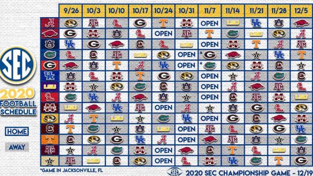 SEC 2020 Schedule