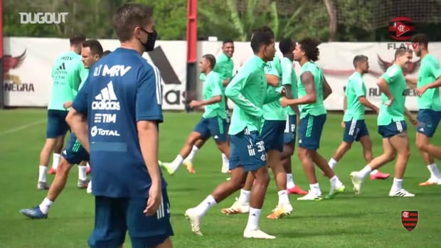 Flamengo's last training session before Grêmio clash
