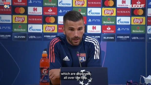 Anthony Lopes reaction before Bayern Munich