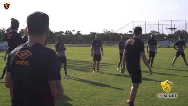 Sport Recife's last training session before Santos clash