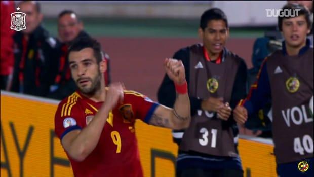 Álvaro Negredo's best moments with the Spanish national team