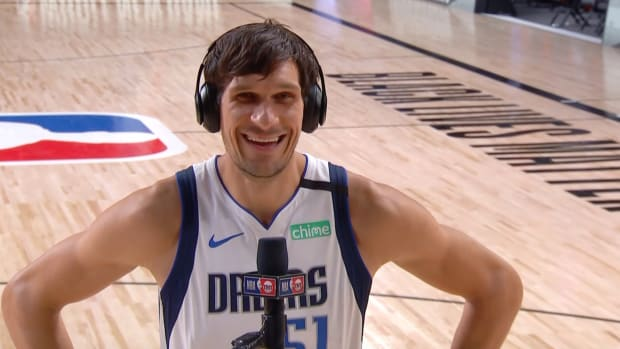 "Mavericks' Boban Marjanovic interviewed on TNT's ""Inside the NBA"""