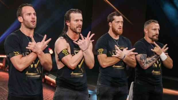 The Undisputed Era (Roderick Strong, Adam Cole, Kyle O'Reilly and Bobby Fish) pose on NXT