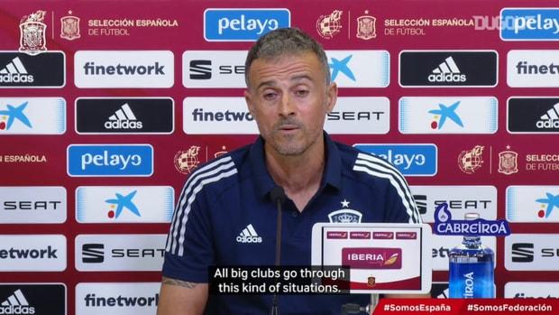 Luis Enrique on Barça's situation