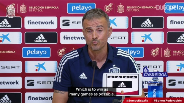 """Luis Enrique: """"I don't take into account what club the players belong to nor their age"""""""