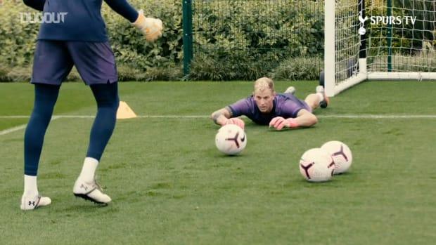 Joe Hart takes part in Tottenham training