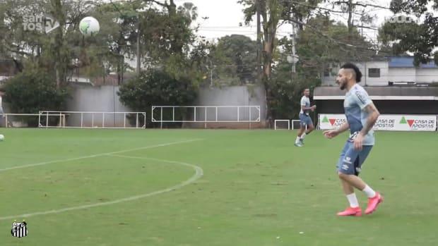 Santos' best training goals ahead of Sport Recife clash