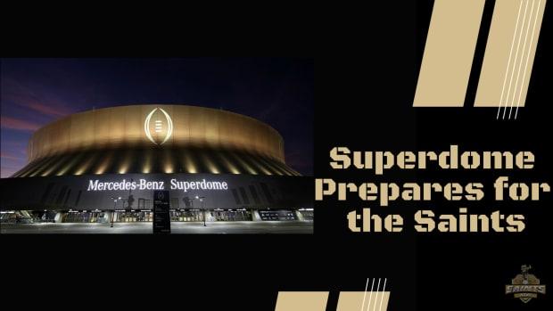 Superdome Prepares for Week 1
