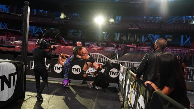 Empty seats at Daily's Place in Jacksonville for AEW Dynamite
