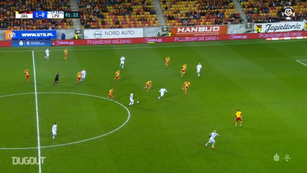 Jakub Moder's sublime strikes for Lech Poznan
