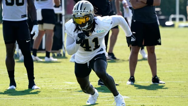 Alvin Kamara at Saints Training Camp