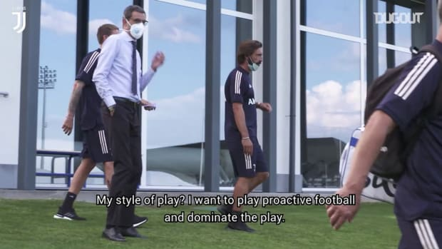 Andrea Pirlo's first press conference as Juventus head coach