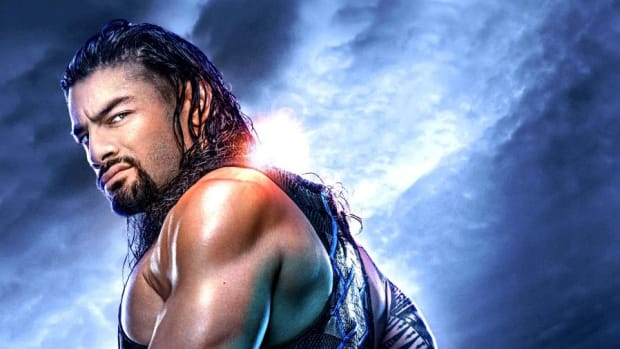 Promotional image for WWE Payback 2020 featuring Roman Reigns