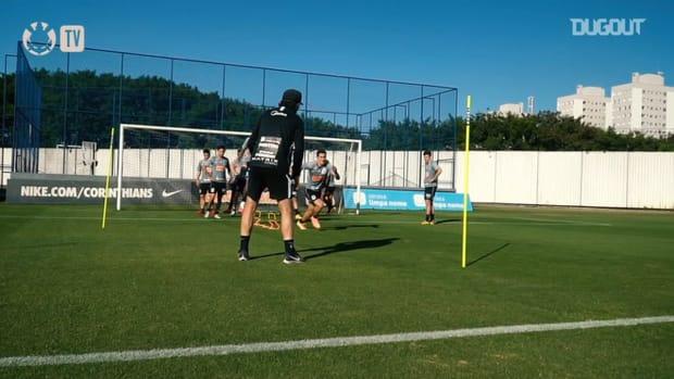Corinthians train ahead of the derby against São Paulo