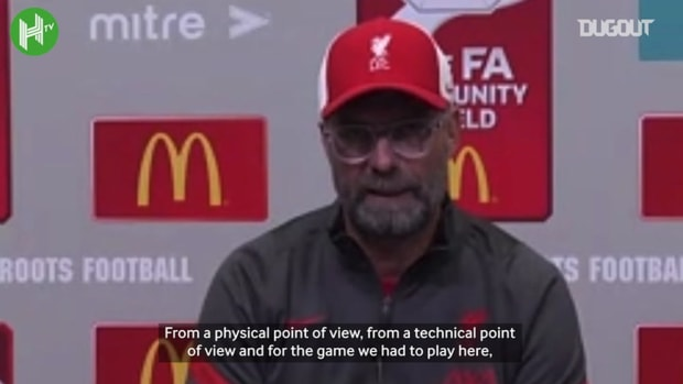 Klopp discusses Liverpool's Community Shield defeat