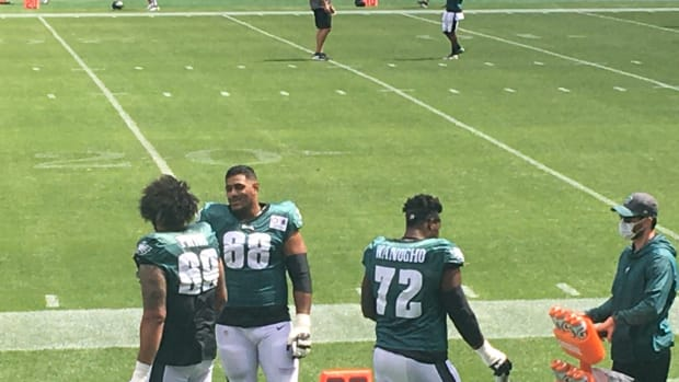 The Eagles LT options at camp Sunday