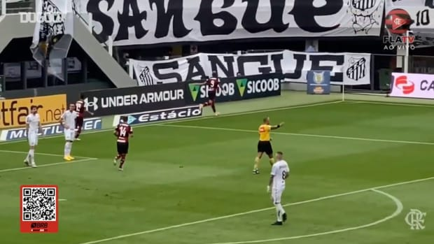 Gabriel Barbosa's winner against Santos at Vila Belmiro