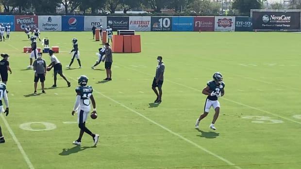 Eagles practice on Aug. 27