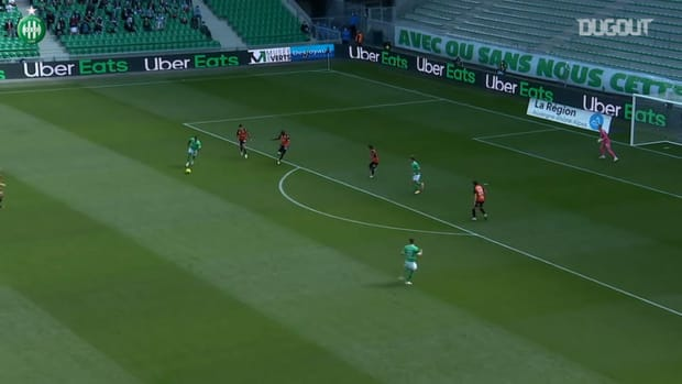 Hamouma's brace offers the win to Saint-Etienne vs Lorient