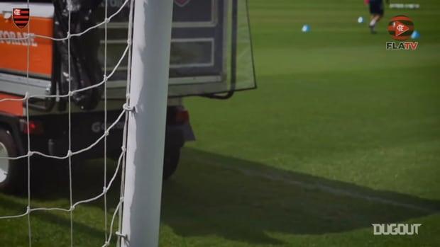 Flamengo's last training session before face Bahia