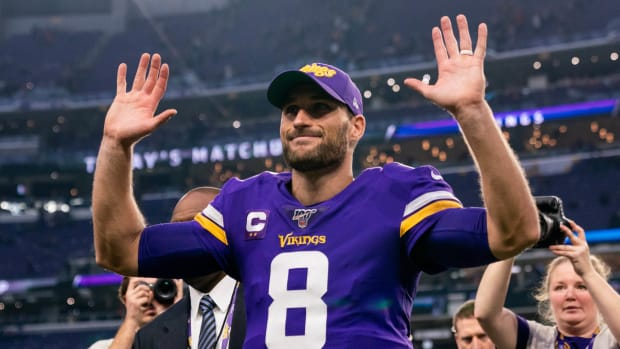 Vikings QB Kirk Cousins leaves the field after a game