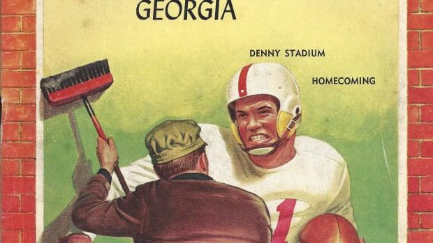 Georgia at Alabama, game program cover, Nov. 1, 1958