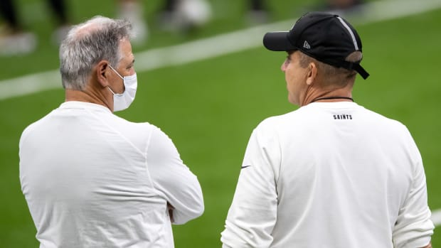 Saints GM Mickey Loomis and Head Coach Sean Payton