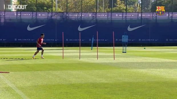Coutinho returns to preseason training at Barça