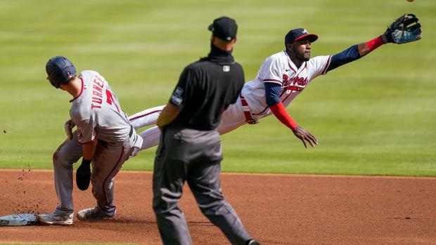 Trea Turner slide vs Braves