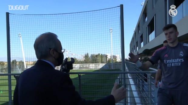 President visits team ahead of season kick-off