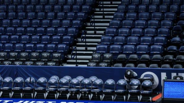 NCAA Basketball stands