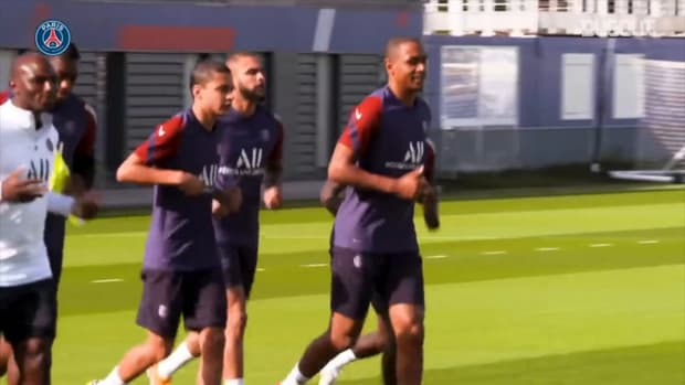 Paris Saint-Germain's latest training session with Gana and Abdou Diallo
