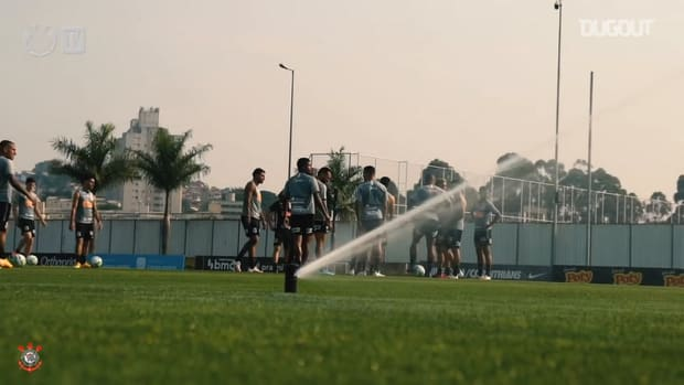 Corinthians train ahead of the derby against Palmeiras