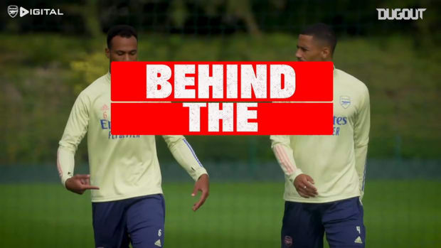 Gabriel trains with Arsenal ahead of new season