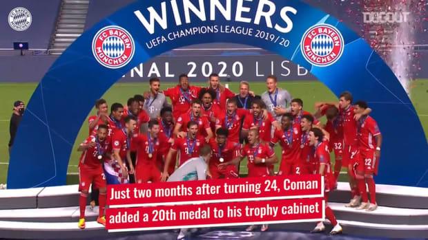 Kingsley Coman's incredible trophy haul