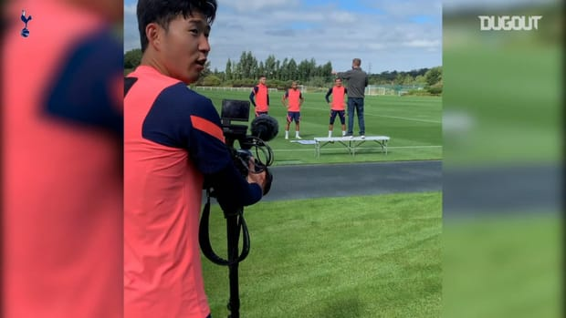Heung-Min Son goes behind the camera at Spurs training
