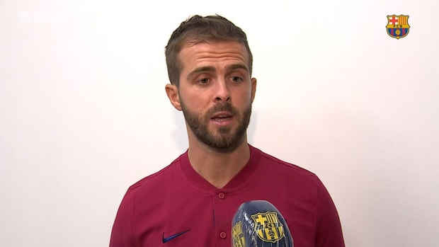 Pjanić in Barcelona and looking forward to joining the Barça squad