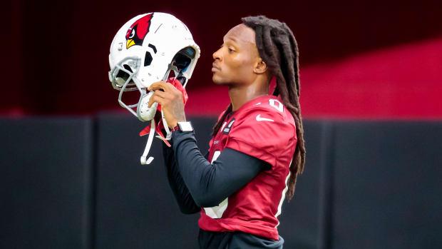DeAndre Hopkins at Cardinals practice