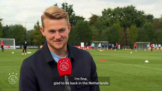 Matthijs de Ligt returns to Ajax training ground