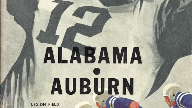 Iron Bowl: Alabama vs. Auburn, game program, Nov. 29, 1958