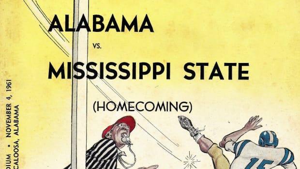 Mississippi State at Alabama, game program, Nov. 4, 1961