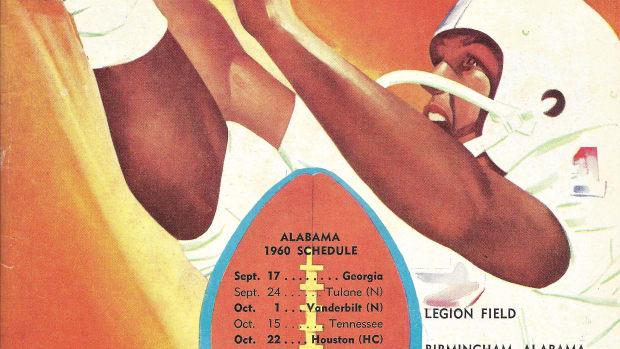 Georgia vs. Alabama at Legion Field, game program, Sept. 17, 1960