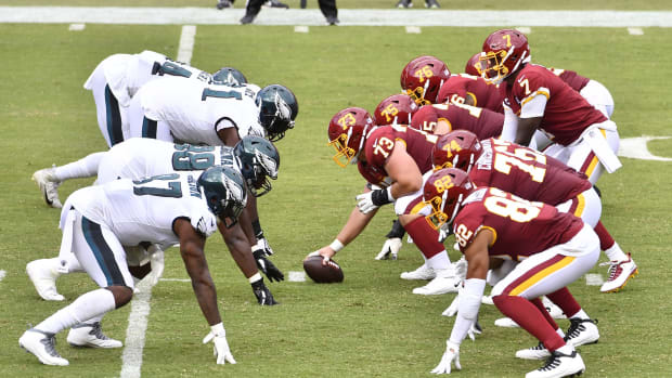 WFT Offense vs. Eagles Defense © Brad Mills-USA TODAY Sports