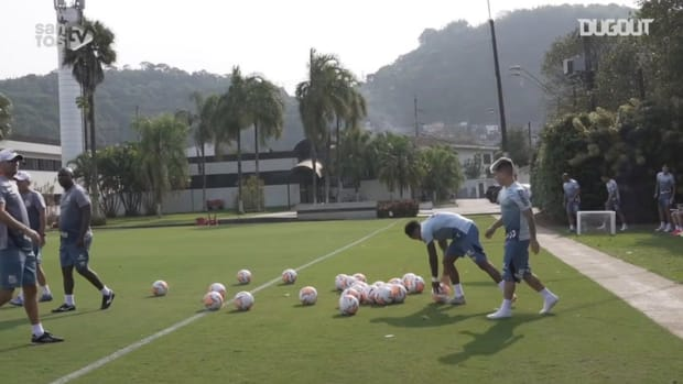 Santos' last training session before face Olimpia