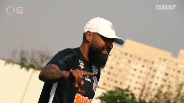 Corinthians's last training session before Bahia clash